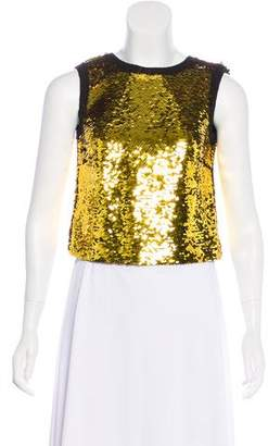 Dolce & Gabbana Sequined Sleeveless Top