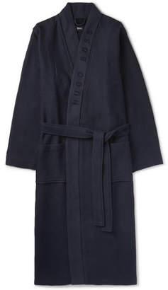 HUGO BOSS Loopback Waffle-Knit Cotton-Blend Robe