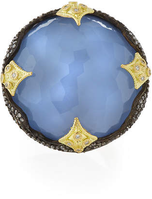 Armenta Old World 18k Crivelli Chalcedony Ring, Size 7