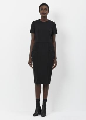 Comme des Garcons black short sleeve bubble hip dress $1,347 thestylecure.com