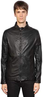 Giorgio Brato Zip-Up Washed Leather Jacket