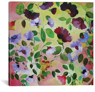 """iCanvas Morning Glories"""" By Kim Parker Gallery-Wrapped Canvas Print - 37"""" x 37"""" x 0.75"""""""