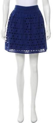 Aqua Eyelet Mini Skirt