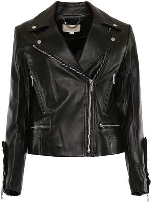 MICHAEL Michael Kors Leather Biker Jacket