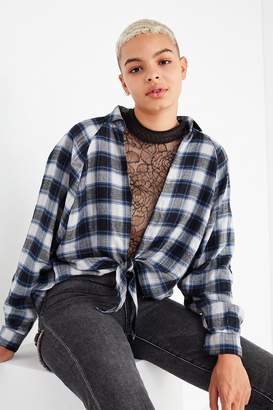 Urban Outfitters Courtney Tie-Front Flannel Top