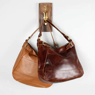 The Leather Store Lola Leather Buckle Hobo Tote cd57bf637afa9