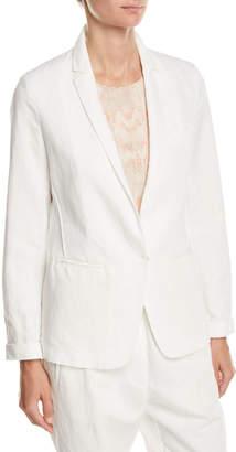 Forte Forte Cotton-Linen Single-Button Jacket