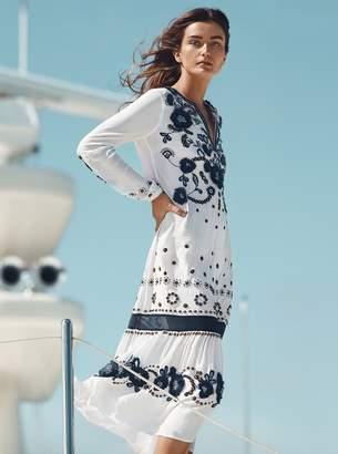 MICHAEL Michael Kors Floral Embroidered Silk Dress