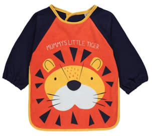 George Orange Mummys Little Tiger Long Sleeve Bib