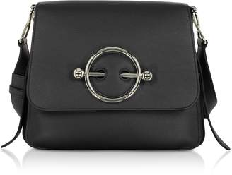 J.W.Anderson Black Leather Disc Bag