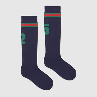 "Gucci Children's stretch cotton ""25"" socks"