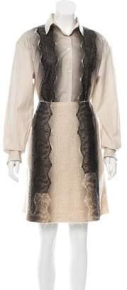 Bottega Veneta Ombré Lace-Paneled Skirt Set