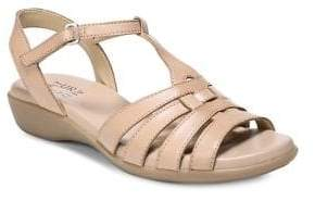 Naturalizer Nanci T-Strap Leather Sandals