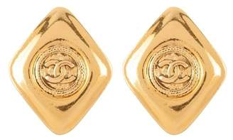 Susan Caplan Vintage 1980s Vintage Chanel Rhombus Earrings