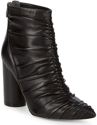 Sigerson Morrison Kimay Ruched Leather Ankle Boot