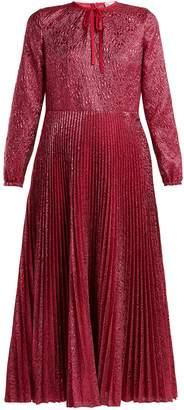 RED Valentino Floral-jacquard metallic midi dress