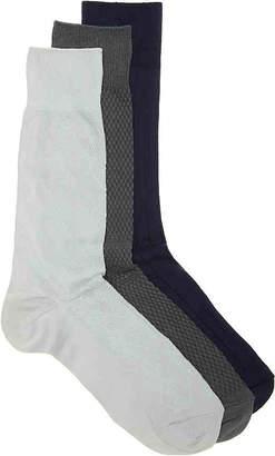 Cole Haan Argyle Crew Socks - 3 Pack - Men's