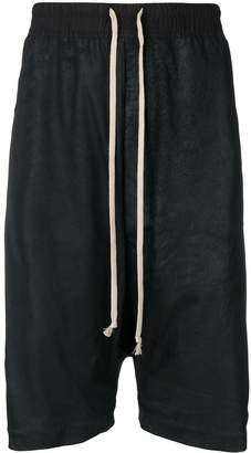 Rick Owens oversized leather shorts