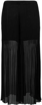 Armani Collezioni pleated detail flared pants