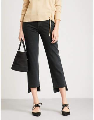 J Brand Wynne slim-fit cropped high-rise jeans