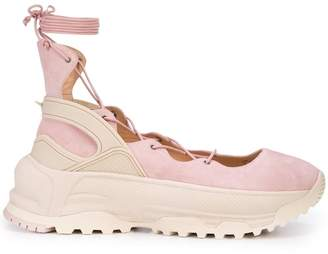 Coach lace up ballerina sneakers