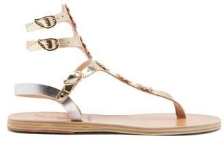 Ancient Greek Sandals X Fabrizio Viti Valentina Leather Sandals - Womens - Silver Gold