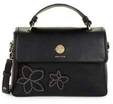 Anne Klein Studded Chain Leather Crossbody Bag