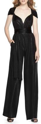 Dessy Collection Twist Convertible Wide Leg Jumpsuit