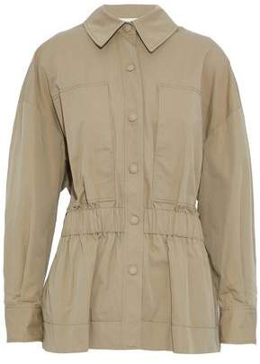 Stella McCartney Shirred Cotton-Blend Gabardine Jacket