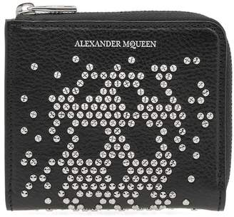 Alexander McQueen Embellished Skull Zip Coin Purse