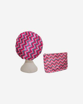 Pink ZigZag MICROFIBRE Cosmetic Combo Bundle