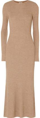 Totême Nuria Ribbed Wool Maxi Dress - Camel