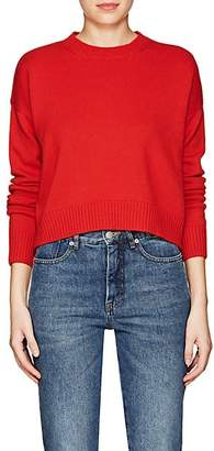 Barneys New York Women's Cashmere Crop Sweater - Bt. Red