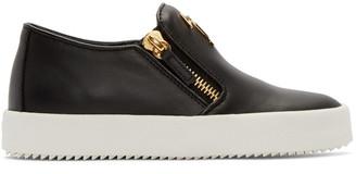 Giuseppe Zanotti Black London Slip-On Sneakers $675 thestylecure.com