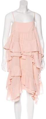Chloé Ruffle Midi Dress