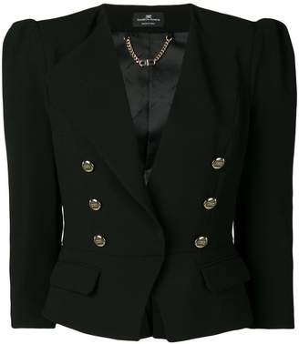 Elisabetta Franchi cropped double-breasted blazer