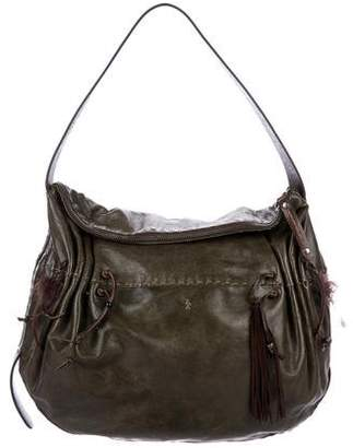 Henry Beguelin Gathered Leather Hobo