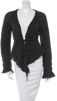 Jean Paul Gaultier Alpaca-Virgin Wool Blend Wrap Cardigan $125 thestylecure.com