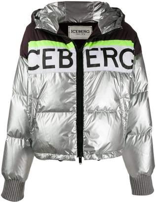Iceberg colour block puffer jacket