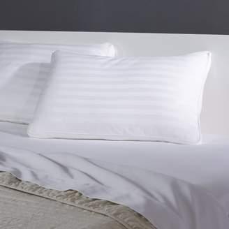 Blue Ridge Home Fashion 350 TC Gusseted Damask Stripe Down Alt Polyfill Jumbo Pillow