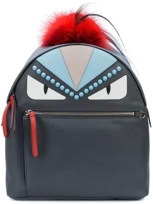 Fendi Grey Bag Bugs Leather backpack