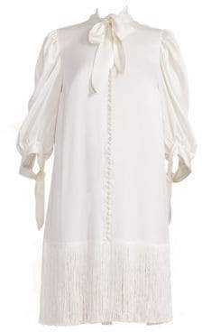 Magda Butrym Women's Gaza Puff Sleeve Dress - White - Size 40 (8)