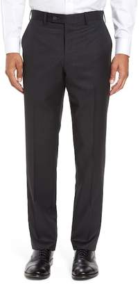 JB Britches Trim Fit Wool Solid Trousers