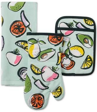 Kate Spade 3-Pc. Chop Chop Kitchen Towel, Oven Mitt & Pot Holder Set