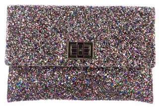 Anya Hindmarch Valorie Glitter Clutch Pink Valorie Glitter Clutch