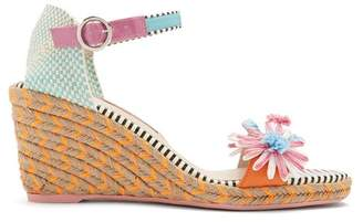 Sophia Webster Lucita raffia-flower wedge espadrilles