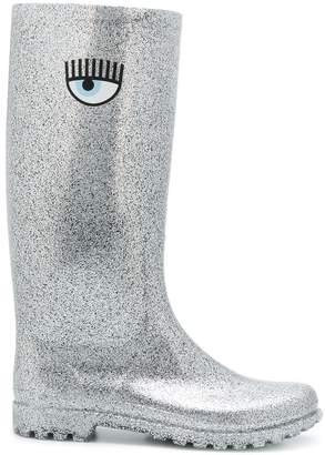 Chiara Ferragni glitter wellington boots