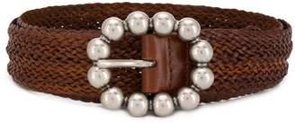 Orciani woven oval buckle belt