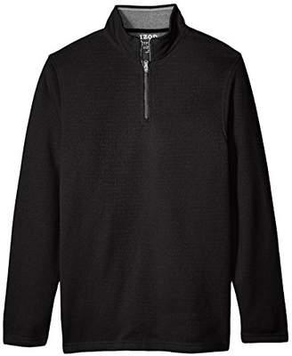 Izod Men's Big Tall Saltwater Solid 1/4 Zip Sweater