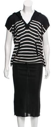 Jean Paul Gaultier Midi Striped Dress